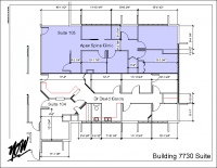 Floor Plan – Suite 105